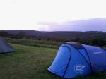 Coucher de soleil sur ma tente.